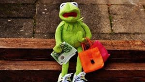 Sad shopping Kermit