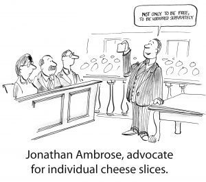 Defending individual cheese slices is a lot like digital commerce lawyer talk