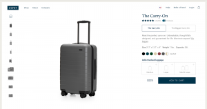"On awaytravel.com I quickly found the suitcase I wanted, but wouldn't you know it, the ""Asphalt Carry-On"" was out of stock (remember how much I love black!)."